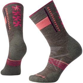 Smartwool PhD Outdoor Medium Pattern Crew Socks Women Taupe
